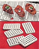 CERAMIC GRILL BRICK SET FOR GAS AND ELECTRIC GRILLS (SET OF 30)