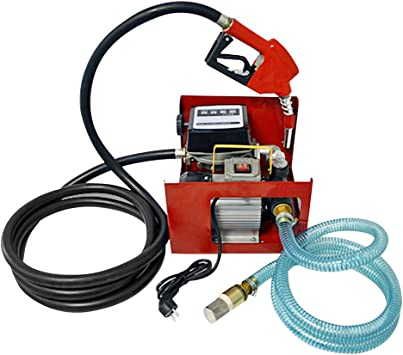 aluminum fuel nozzle and high-quality accessories 230V Diesel pump and fuel oil pump Oil pump Biodiesel Diesel Star 160-4 Electric drum pump with 6m flexible hose