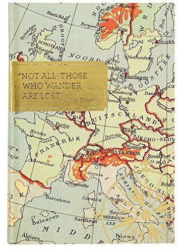 "Eccolo World Traveler Travel Journal, 6 x 8"", Wander (Q402B)"
