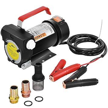 Goplus 12 V 10 GPM eléctrico Diesel Queroseno Aceite Combustible Bomba de transferencia Extractor