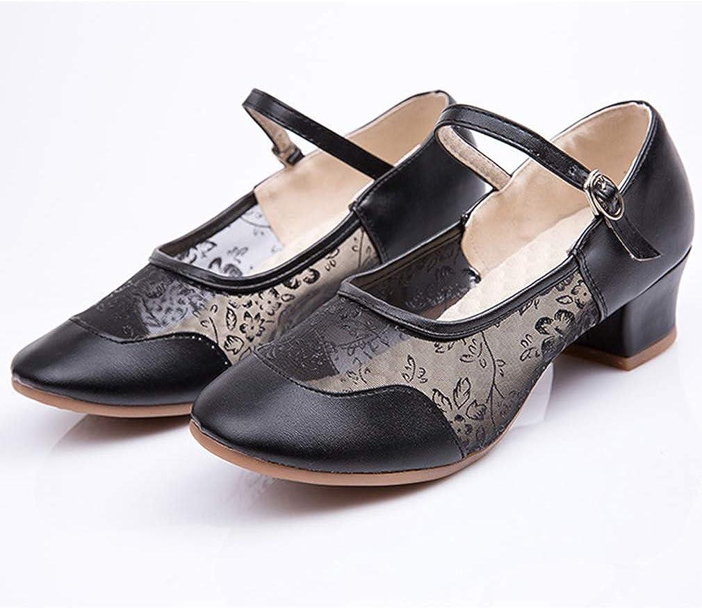 Mode Latine Standard Salle de Bal Tango Valse F/ête Sociale Salsa Chaussures Chic Orteils Ferm/és Sangle de Cheville Sandales Chaussures de Danse Femme Fille Chaussures de Danse