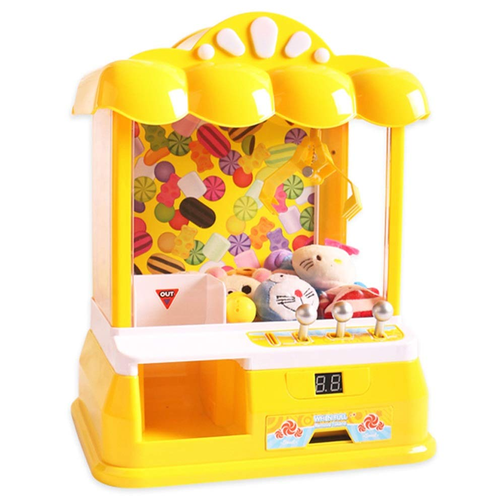 Childrens Interesting Interactive Toys SUB Mini Catching Doll Machine Children's Mini Clipper Grab Machine Toy for Children Over 3 Years Old Educational Toys