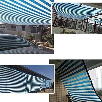 Tarpaulint Sombra Paño Sombra Red Pérgola Protector Solar Cortina Sombra Cubierta Anti-Moscas Hebilla Metálica Polietileno, 14 Tamaños, Personalizable (Color: Azul Blanco, Tamaño: 9.8x19.6ft): Amazon.es: Deportes y aire libre