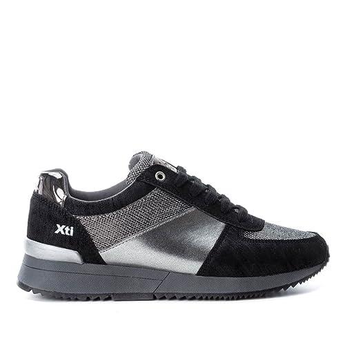 eef3003a2d4 Xti 047302 Zapato De Mujer 047302 Sintético Mujer Negro 35  Amazon.es   Zapatos y complementos