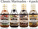 grilling marinades - Gourmet Warehouse Classic Marinade Collection, Sampler Pack, Gift Set, Gourmet, Grilling