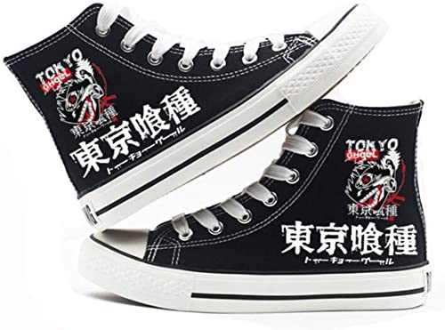 Tokyo Ghoul Kaneki Ken Cosplay Canvas Unisex Black Sneakers Casual Anime Shoes