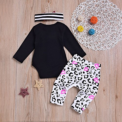 50705b15b4d47 856store Clearance Sale Skull Infant Baby Girls Long Sleeve Romper Pants  Headband Halloween Clothes Set by