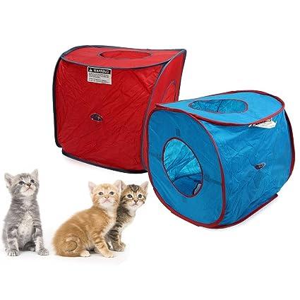 Coeus Tienda de campaña gato portátil pop-up perro juego gatito