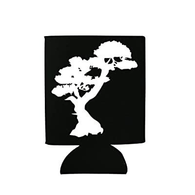 StickAny Black Can Cooler Series Bonsai Tree (Design Color: White): Kitchen & Dining