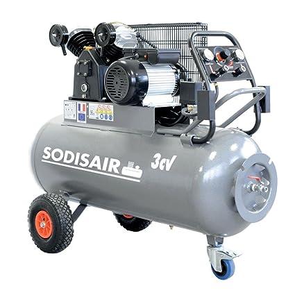 Compresor profesional en V sobre rueda 200 litros 230 volts