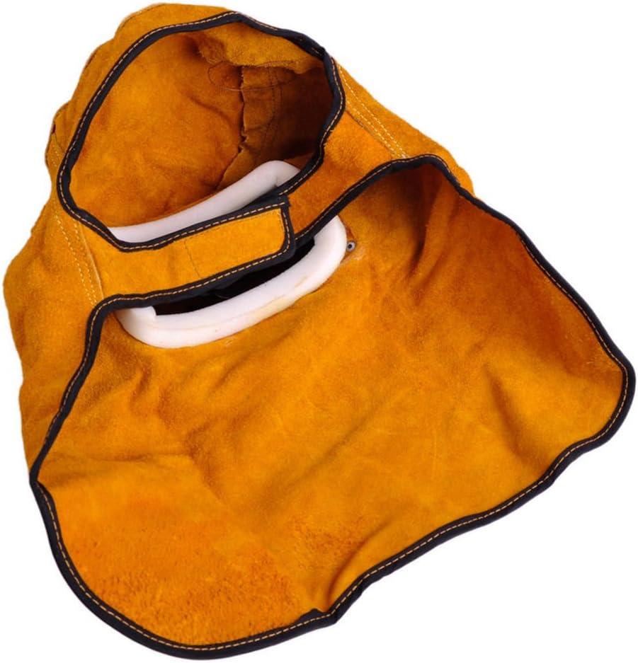 Casco de soldadura filtro solar de oscurecimiento autom/ático capucha de piel m/áscara de protecci/ón para casco XTLSTORE