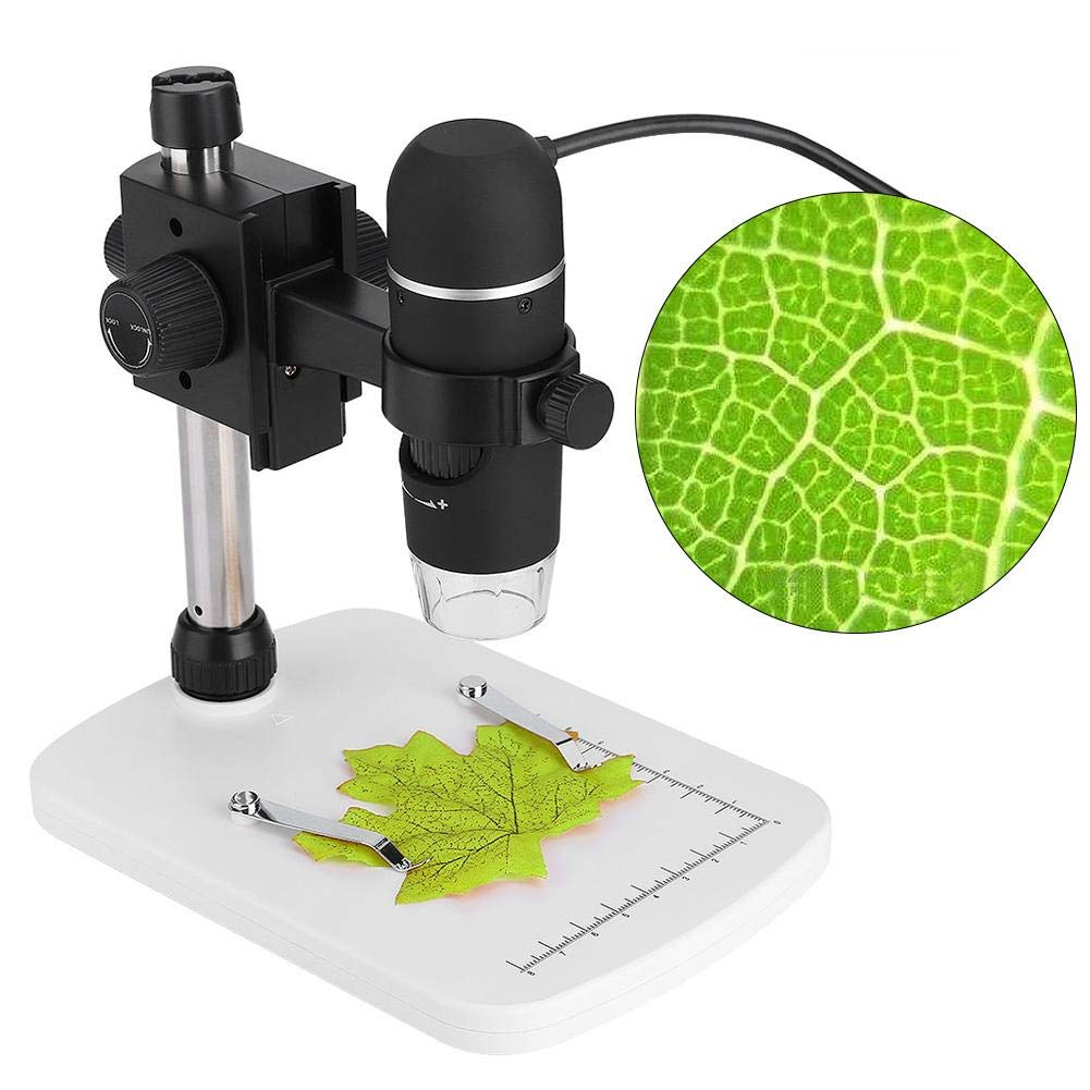 8 White LED Lights Built-in USB 2.0 Interface 5MP USB 300x Digital Microscope Endoscope Portable Digital Laboratory Microscopes Compatible with Windows Series Mac OS
