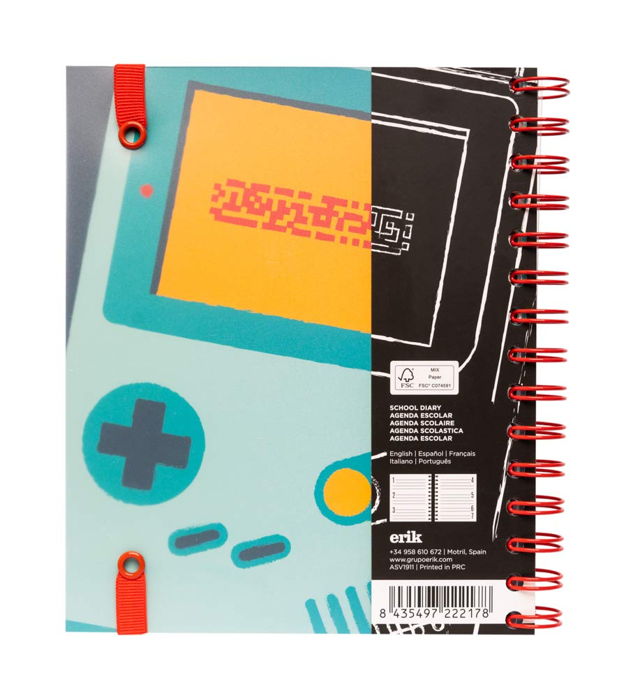 Amazon.com : 2019/2020 School Diary Week to View Gamer ...