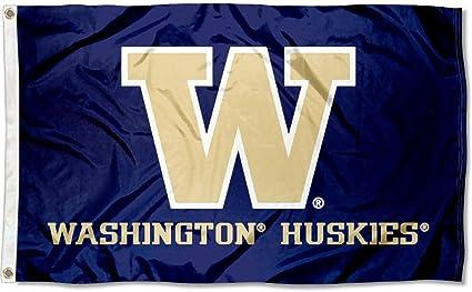 University of Washington NCAA Licensed House Flag