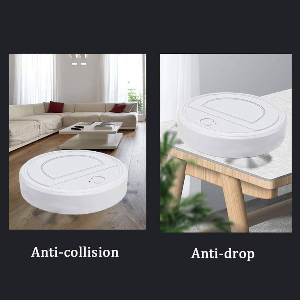 Art Jian Aspirateur Robot, Super-Thin Balayer et Mopping 2 en 1 Chute Intelligente arrêt du capteur de Collision amélioré Capteur Automatique Intelligent robotique Sweeper White