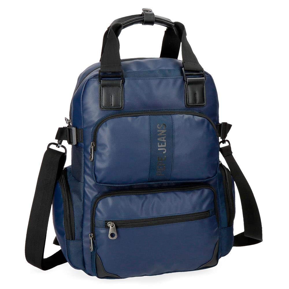 Pepe Jeans Bromleyカジュアルデイパック、41 cm、18.37リットル、ブルー(Azul)   B07FYHF59P