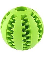 Hosaire 1 Pieza Juguete De Goma Masticar Mascotas Squeaker Squeeze Pet Ball Juguetes Bola Interactiva para
