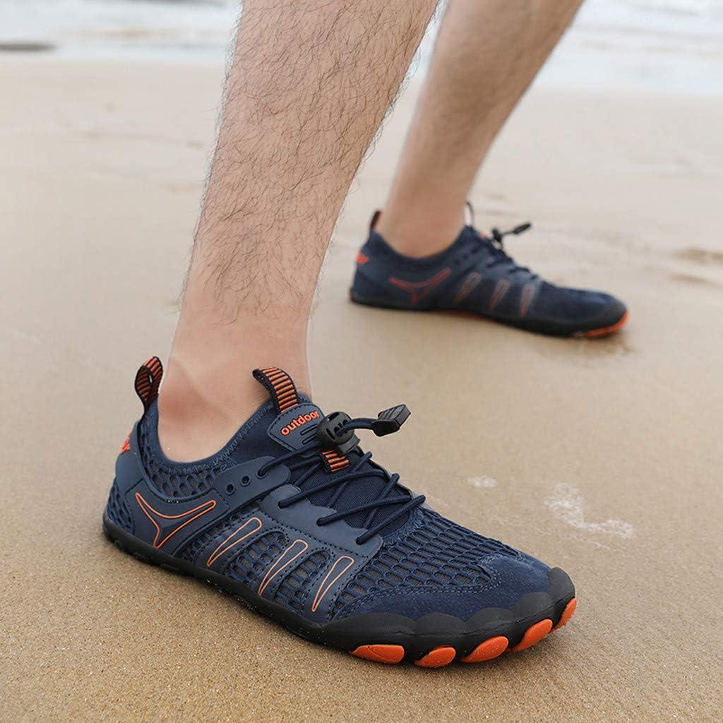 ZODOF zapatillas deportivas hombre Zapatos de agua Deportes Secado rápido Buceo Nadar Navegar Aqua Walking Surf Yoga Al aire libre running shoes(39.5 EU,Azul): Amazon.es: Bricolaje y herramientas