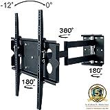 Allcam L273M Universal Swivel Arm Wall Bracket for 40-50 inch Plasma/LED TV w/Free 360° Pan Tilt 12° Max VESA 600x400mm Holds up to 45KG Weight