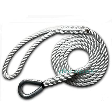 dbRopes 3 Strand Mooring Pendant 100% Nylon Rope Premium with Heavy Duty  Galvanized Thimble  Made in USA