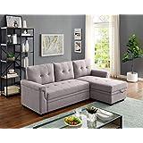 Amazon Com Modern Sofa Bed Sleeper Faux Leather