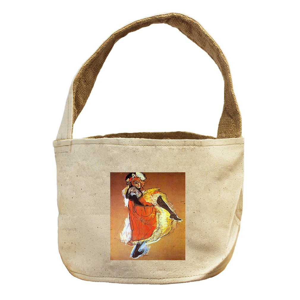 Style in Print Jane Avril Dances (Toulouse Lautrec) Canvas and Burlap Storage Basket Basket