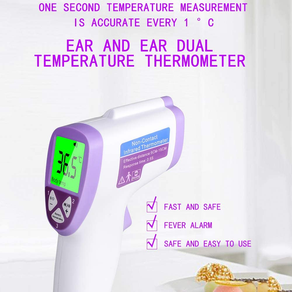 Non-Contact Infrared Thermometer LCD Display Infrared Thermometer 3 Modes Body//Surface//Room Baby Thermometer Forehead Digital Thermometer