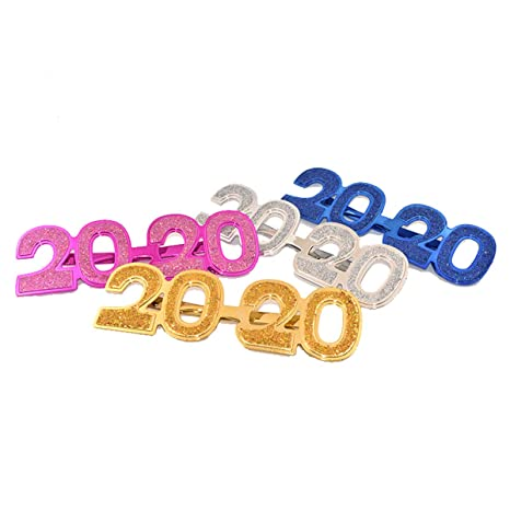 Amosfun 2020 Fiesta de Año Nuevo Eva Gafas Fiesta de Cumpleaños Divertida Accesorios de Fotografía Fiesta de Baile de la Mascarada Vestir Disfraz ...