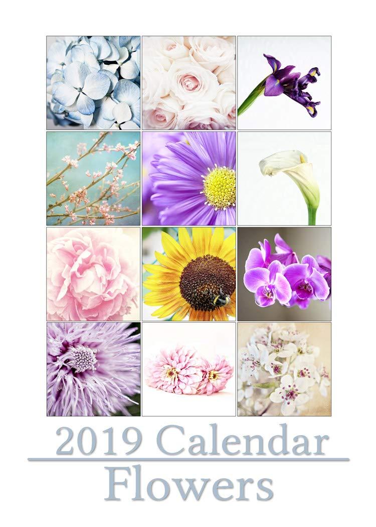 2019 Flower Desktop Calendar with Display Frame 5x7 inch loose leaf prints