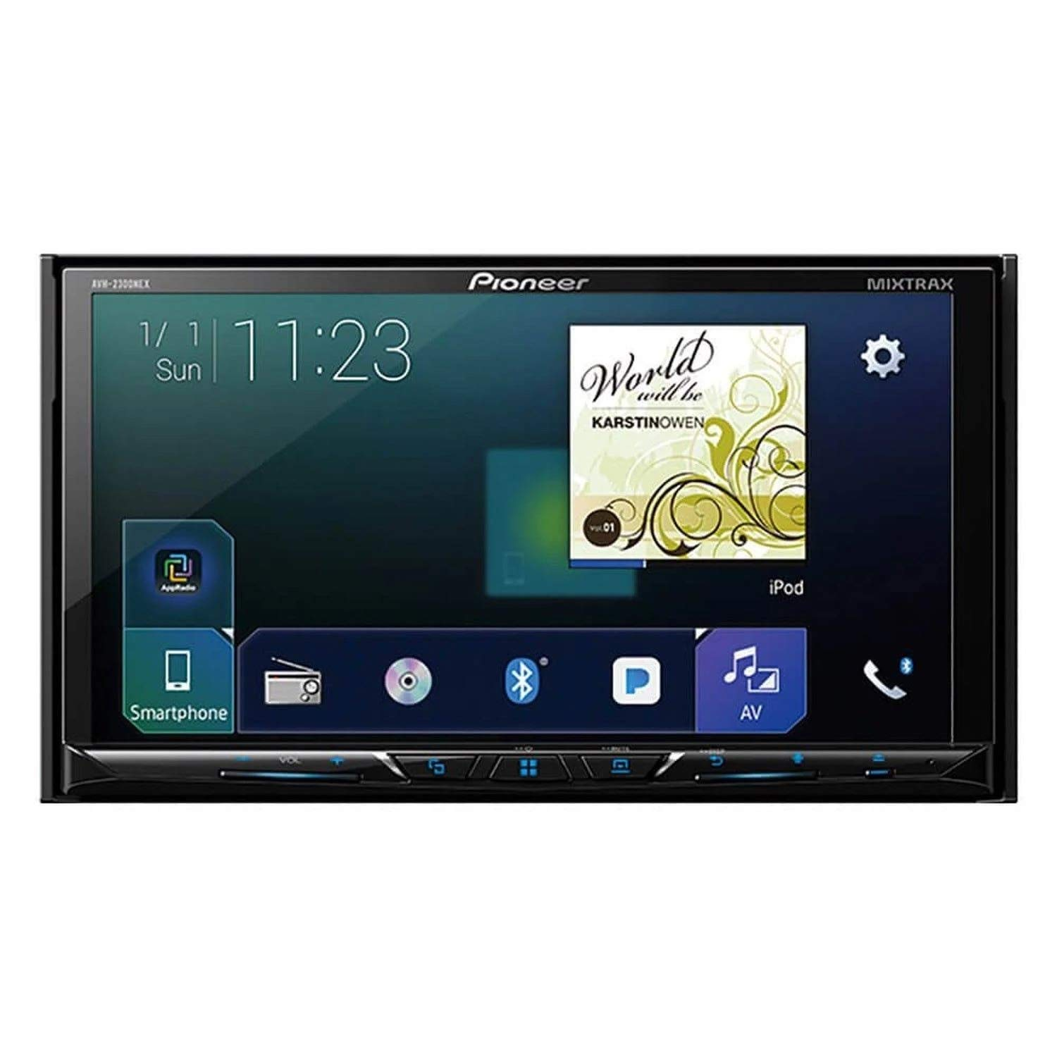 Pioneer AVH-2300NEX Multimedia DVD Receiver with 7'' WVGA Display/Apple CarPlay/Android Auto/Built-in Bluetooth/SiriusXM-Ready/AppRadio Mode + by PIONEER (Image #1)