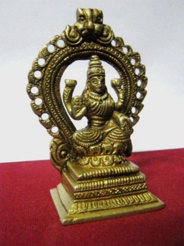 Artcollectibles India 9 Rare Laxmi Hindu in ottone della dea Statua religiosa Wealth Puja Arti dei regali