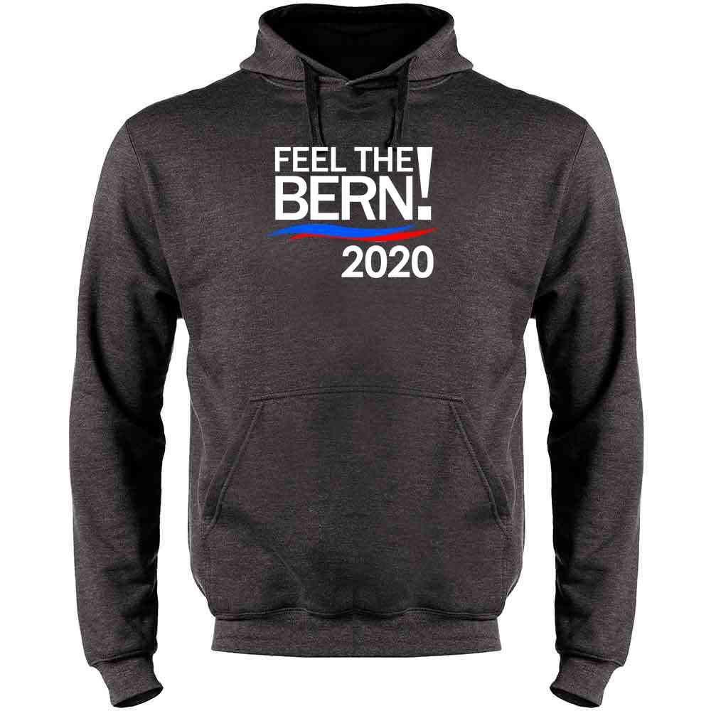 Feel The Bern Bernie Sanders for President 2020 Mens Fleece Hoodie Sweatshirt