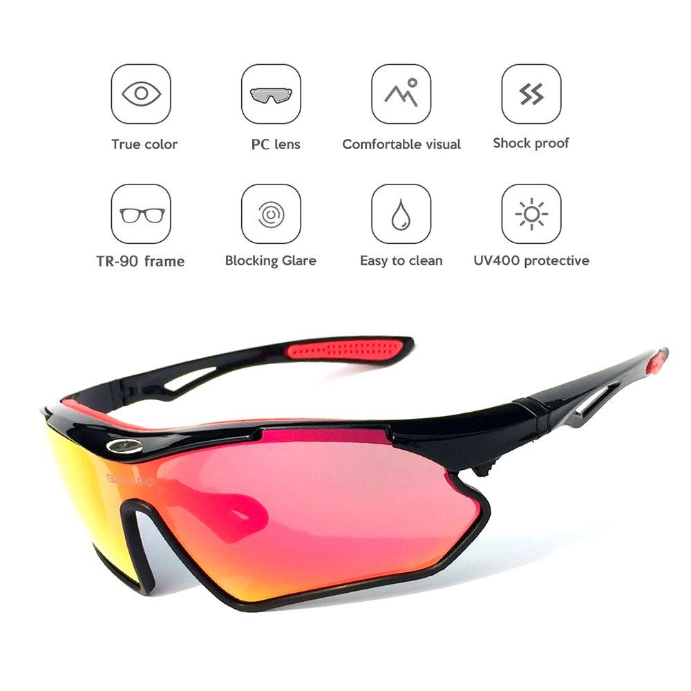 Festnight Lunettes de Soleil pour Vélo UV400 Protection pour Sports Conduite Golf Motocyclisme Pêche Patinage Ski Voyager aP6tD5wTD