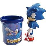 Boneco Sonic 16cm Sega Coleção + Caneca Azul 350ml