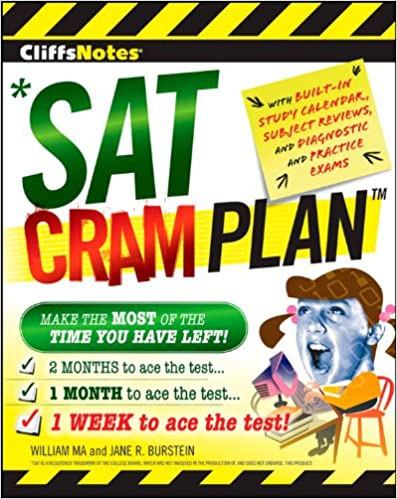 cliffsnotes sat cram plan cliffsnotes cram plan jane r burstein