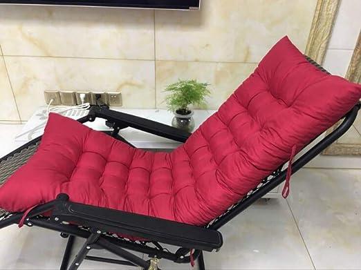 Marbeine - Cojín de Asiento para sillas, sillones o tumbonas de jardín, terraza Gruesa para Exterior, Funda de 125 x 48 x 8 cm, Rojo Intenso