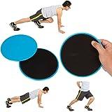 VLFit 2 x Gliding Discs Doppia Faccia Dischi Fitness Core Sliders in Casa per Allenamento Addominali, Casa, Yoga, Palestra, Pilates, CrossFit - Per moquette e Tutti Pavimenti Duri