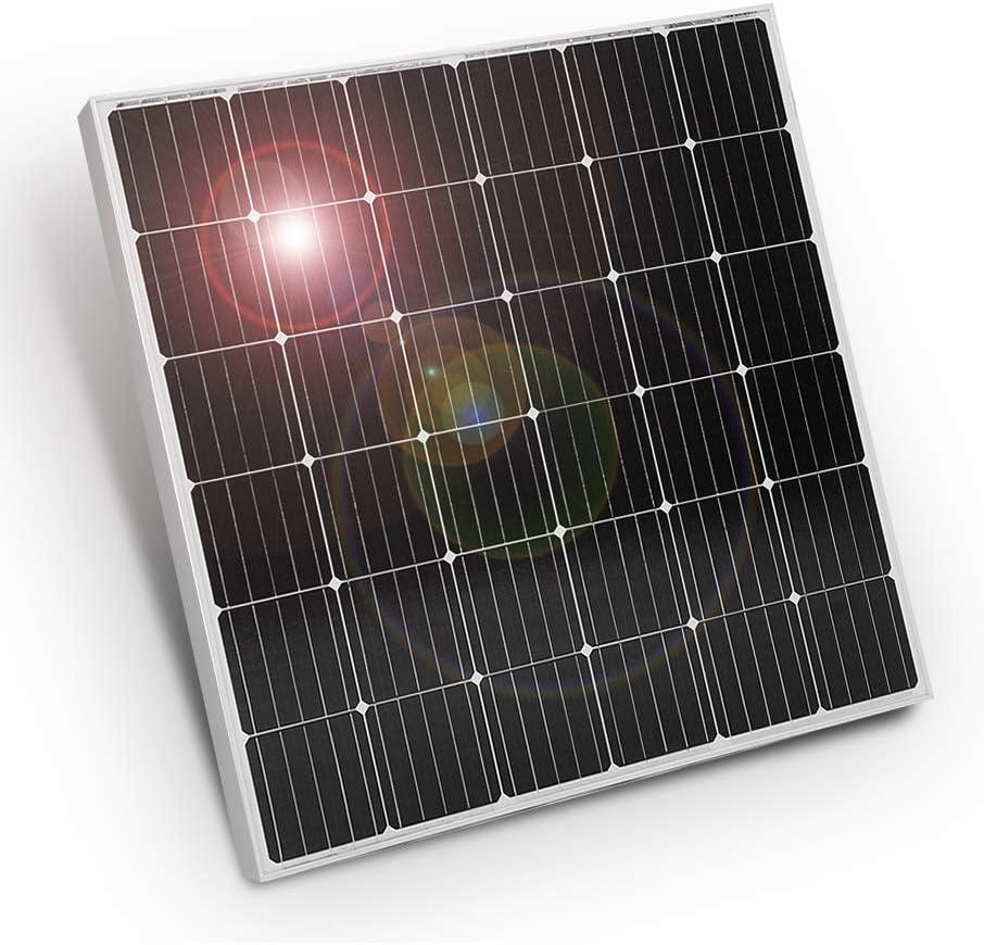 DOKIO 150w 18v Solar Panel TÜV Certification Monocrystalline(HIGH-Efficiency) Solar Cable(MC4) for Charging 12v Battery (Vented AGM Gel) for Caravan, Campervan, Rv, Boat Or Yacht,Off-Grid Home