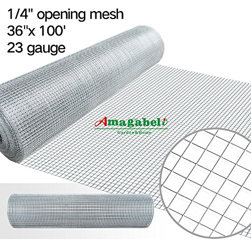 36inch Hardware Cloth 100 ft 1/4 Mesh Galvanized Welded W...