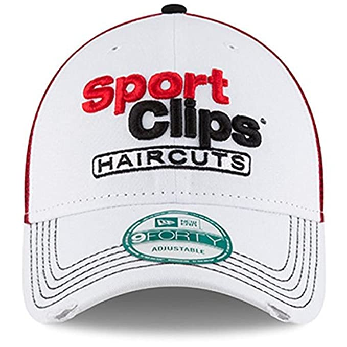 New Era Denny Hamlin Sport Clips 2016 Darlington Driver 9FORTY Adjustable  Hat - White at Amazon Men s Clothing store  38f2e9c3af39