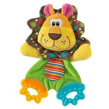 hibote Animal Apacigua Toalla Pañuelo Mordedor con Sonido para el bebé (León)