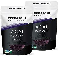 Terrasoul Superfoods Organic Acai Berry Powder, 8 Oz - Freeze-Dried   Antioxidants   Omega Fats