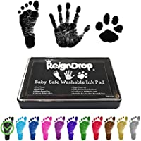 ReignDrop Ink Pad For Baby Footprint, Handprint, Create Impressive Keepsake Stamp, Non-Toxic and Acid-Free Ink, Easy To…