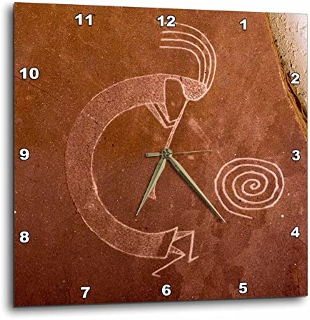3dRose Pictographs of The Pueblo Indians, Native American – Us32 Awy0010 – Angel Wynn – Wall Clock, 15 by 15 DPP_92520_3