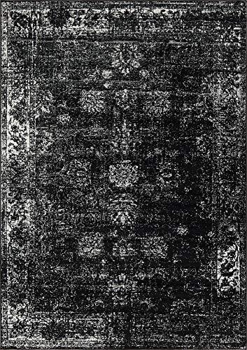 (Unique Loom 3137799 Sofia Collection Traditional Vintage Beige Area Rug, 4' x 6' Rectangle, Black)