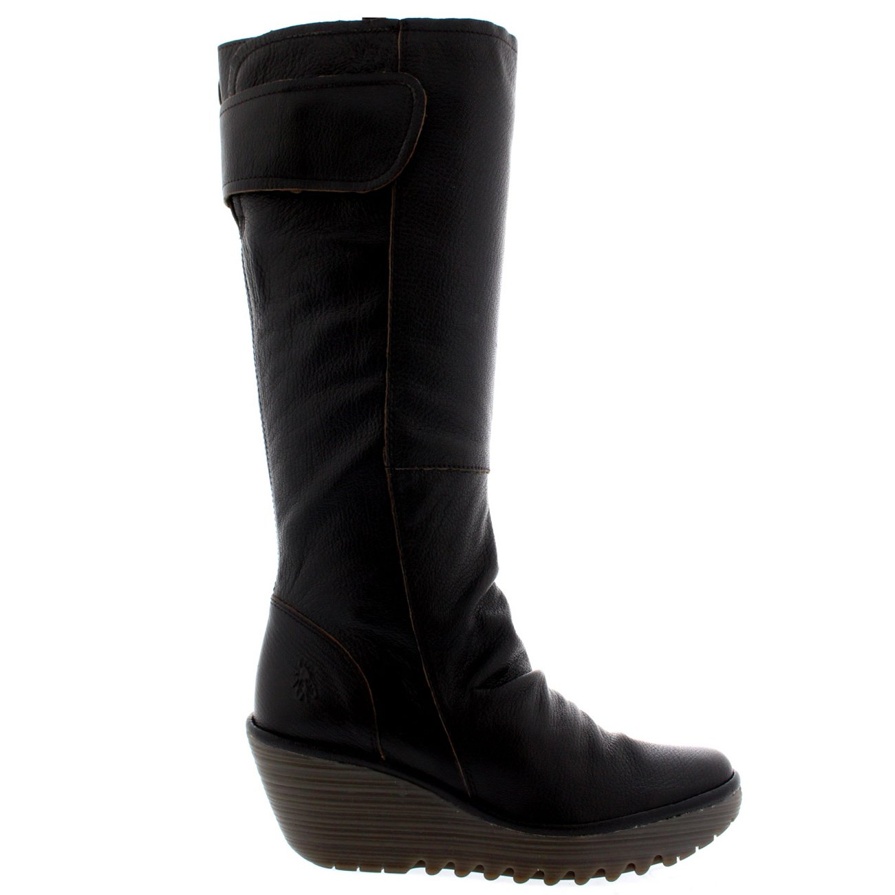 Womens Fly London Yulo Wedge Heel Leather Fashion Knee High Winter Boots B01K51HCA4 US9/EU40|Chocolate