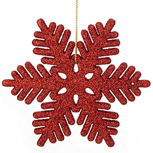 Holiday Red Snowflake - 5