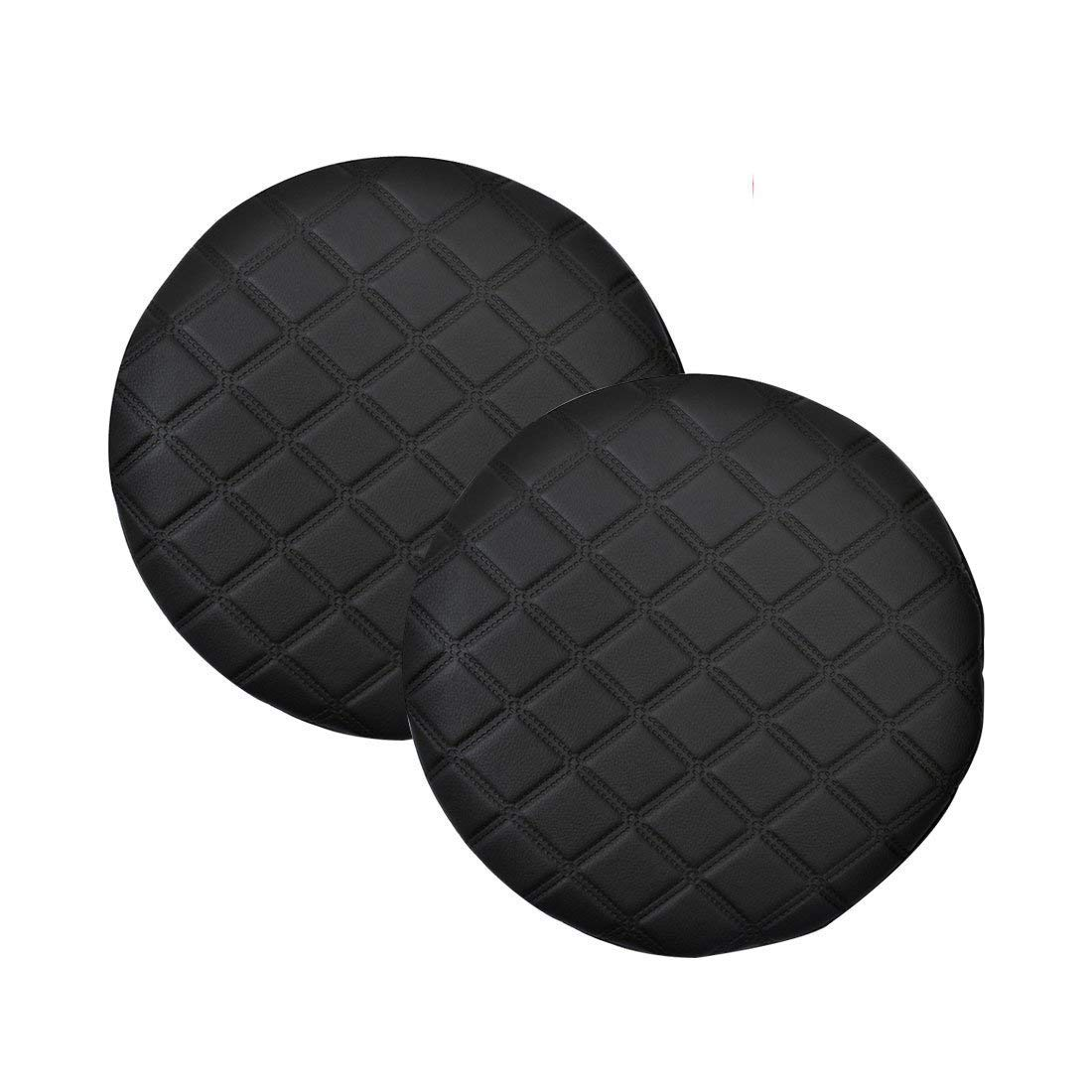 Pinji 2PCS Stool Cover Faux Leather Round Bar Cover Seat Cushion Proctector Dia 11.8inch/30cm