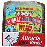 C & S CS12583 Mealworm Delight No Melt Suet Dough, 11.75-Ounce