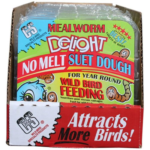 C & S Products and CS12583 Mealworm Delight No Melt Suet Dough, 11.75-Ounce